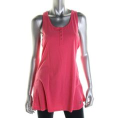 JUICY-COUTURE-NEW-Pink-Cotton-Racerback-Sleeveless-Tank-Top-Tunic-L-BHFO