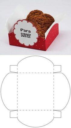 New origami box template patterns ideas Diy Gift Box, Diy Box, Diy Gifts, Cookie Packaging, Box Packaging, Bakery Packaging, Paper Box Template, Gift Wraping, Printable Box