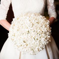 Simple and Delicate Bridal Bouquet // photo by: Callaway Gable // Bridal Bouquet: Castille Creations // http://www.theknot.com/weddings/album/a-traditional-jewish-wedding-in-brooklyn-ny-138482