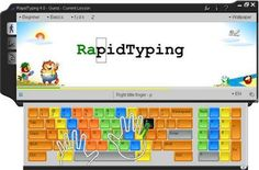 Another free typing program that can be used by kids or adults. Look for the download button (6MB)