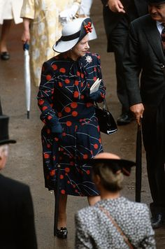 Queen Elizabeth ll attends Royal Ascot on June 18, 1987 in Ascot, England.