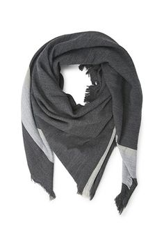 Frayed Two-Stripe Scarf   Forever 21 - 1000172566
