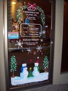 snowman door design for my chiropractors office christmas snowman christmas time window art - Window And Door Christmas Decorations