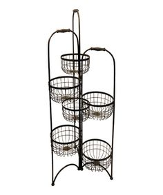 Take a look at this Light Dusting Small Folding Basket Rack by VIP International on #zulily today!