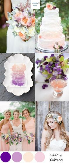 Wedding Color Inspiration| Lavender, Violet & Peach | Wedding Colors
