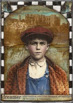 and old ATC I did  altered boy by Land Of Nod Studios