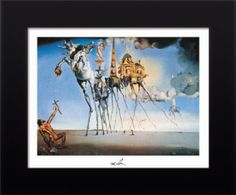 Temptation of St. Anthony, Framed Art Print by Dali, Salvador: Temptation of St. Anthony, Framed Art Print by Dali, Salvador Salvador Dali, Temptation Of St Anthony, World Famous Paintings, Cool Posters, Online Art Gallery, Saint, Framed Art Prints, Fine Art, Drawings