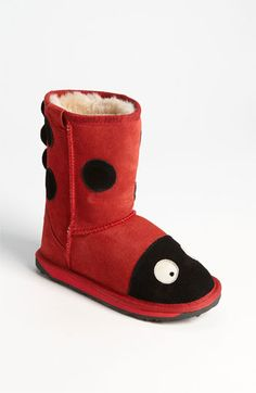 EMU Australia 'Little Creatures - Ladybug' Boot (Toddler, Little Kid & Big Kid) available at #Nordstrom