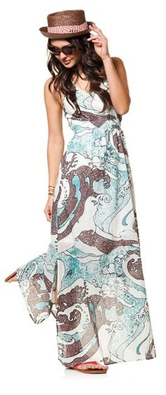 @Quiksilver Women - Girls Heritage Maxi Dress and Volcom Caught On A Yacht Straw Hat http://www.swell.com/grounded-1