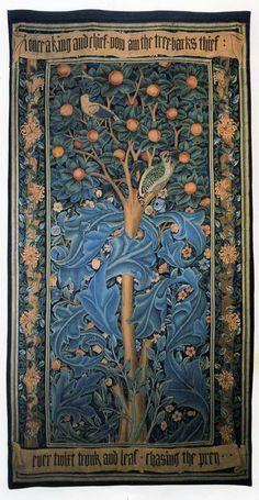 William Morris's Woodpecker Tapestry