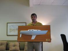 "* 30"" half hull model of the Thomas 36 by Zuma Boat.       * Please visit the web at www.halfhull.net  or contact Mas at halfhull@gmail.com for more model information.   ---- Zuma Boat  (404) 272-7889."
