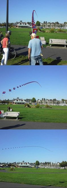 This old man made the coolest kite ever…