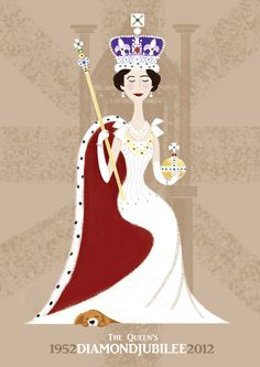 The Queen's Diamond Jubilee 'Throne' A3 Print. £16.00, via Etsy. I own this and 2 other prints!