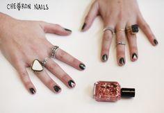 chevron nails! http://blog.freepeople.com/2012/12/3-nail-art-designs-scotch-tape/