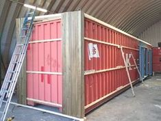 how to timber clad a shipping container Container Home Designs, Container Shop, Cargo Container Homes, Building A Container Home, Container Houses, Shipping Container Workshop, Converted Shipping Containers, Shipping Container House Plans, Container Architecture