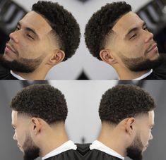 Boys Haircuts Curly Hair, Black Boys Haircuts, Black Men Hairstyles, Haircuts For Men, Medium Hairstyles, Taper Fade Curly Hair, Taper Fade Haircut, Curly Hair Cuts, Curly Hair Styles