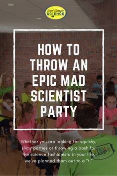 "When you have a party to plan, things can get stressful and   overwhelming. So let Steve Spangler Science take care of the hard-work   and make you look like a rockstar! Whether you are looking for squishy,   slimy parties or throwing a bash for the science fashionista in your   life, we've planned them out to a ""t."" We've even got invitations.   You're going to be the greatest party planner on the planet!"