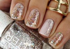 Super nails new years eve classy sparkle ideas New Year's Nails, Love Nails, How To Do Nails, Hair And Nails, Nails 2016, New Years Eve Nails, Cute Nail Designs, Holiday Nails, Trendy Nails