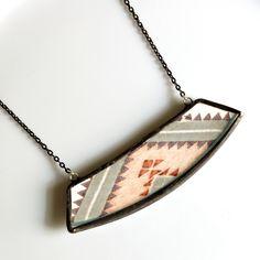 Wide Broken Plate Necklace