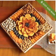 Gourmet Dried Fruit and Nut Snack Gift - Gift Baskets & Fruit Baskets - Harry and David Dry Fruit Basket, Dry Fruit Tray, Dried Fruit, Wedding Gift Baskets, Wine Gift Baskets, Basket Gift, Wedding Gift Boxes, Wedding Ideas, Ramadan Decoration
