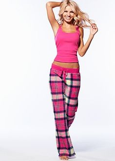 Tank, wooby plaid pants from VENUS women's swimwear and sexy clothing. Order Tank, wooby plaid pants for women from the online catalog or Cute Pjs, Cute Pajamas, Comfy Pajamas, Plaid Pajamas, Cute Sleepwear, Lingerie Sleepwear, Buy Lingerie, Pajama Day, Pajama Pants
