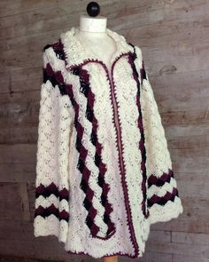 Picture of Shell Sweater Jacket Crochet Pattern
