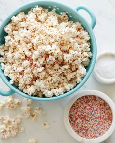 White Chocolate Popcorn with Sprinkles. The latest installment from What's Gaby Cooking?