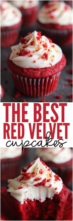The BEST Red Velvet Cupcakes are a light cake with a beautiful red color and a slight chocolate flavor with a little tang from the buttermilk. They are perfectly moist and topped with cream cheese frosting. You will agree that these are the best!