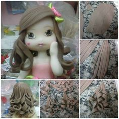 Curly hair in fondant