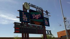 Camelback Ranch- home of the Los Angeles Dodgers Spring Training.  What a BEAUTIFUL park!!