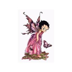 Betty Boo Fairy & Butterfly Cross Stitch Chart Arts, Crafts & Sewing