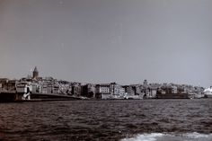The Bosphorus Strait, Istanbul, Turkey. The Galata Tower can be seen in the left part of the picture.