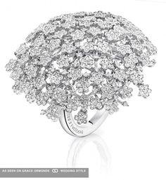 Pasquale Bruni diamond flower ring. #pasqualebruni #pasquale #bruni #diamondflower #weddingplanning #proposal #weddingideas #weddinginspiration #jewelry #bridal #bridaljewelry #diamond #engagementring #ring #engagement #luxuryweddings #graceormonde #weddingstyle