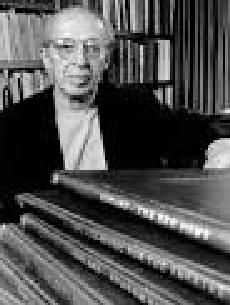 """Aaron Copland (1900-1990) is one of the greatest American composers. As a child he began to study piano; had lessons in harmony and counterpoint with composer Goldmark and began to compose, and later joined the US Conservatory in France. There he studied composition and orchestration with pedagogue Ms.Boulanger. He returned in 1924 and acted as pianist and lecturer. His """"Music for the Theater"""" got the ear of Koussevitzky, who conducted its 1st performance with the Boston Symphony in 1925."""