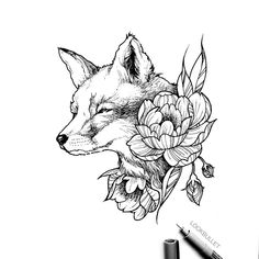 One on my favorite amongst many is the fox. Just a little fox to share with everyone! I felt like drawing today #fox #foxtattoo…