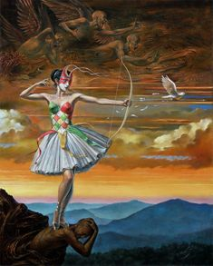 Michael Cheval.  Reality of Absurdity. Lady of the Instant