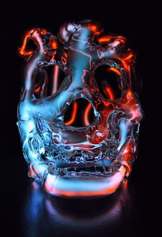 New Neon Skull Lights by Eric Franklin via thisicolossal - Truly beautiful!