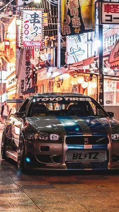 Nissan Skyline Gt R, Nissan Gtr R34, Nissan Gtr Skyline, Nissan Gtr Wallpapers, Car Wallpapers, 4 Door Sports Cars, Best Jdm Cars, Jdm Wallpaper, Batman Wallpaper