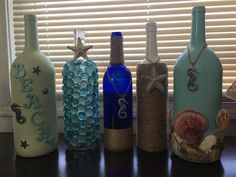 A personal favorite from my Etsy shop https://www.etsy.com/listing/462410103/beach-bottles