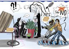 Sally © Jeff The Killer © Creepypasta Eyeless Jack © Clockwork © Ticci Toby © &. Creepypasta Proxy, Creepypasta Cute, Slender Man, Creepypastas Ticci Toby, Creepy Pasta Family, Eyeless Jack, Ben Drowned, Laughing Jack, Jeff The Killer