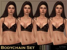 Bodychain Set for The Sims 4 by Trillyke