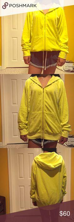 NWOT Juicy Couture track jacket NWOT juicy couture track jacket. Super bright and soft. Juicy Couture Tops Sweatshirts & Hoodies