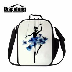 Dispalang Beautiful Ballet Girl Toe Shoes Pattern Lunchbox For Adults Kids Lunch Bag Picnic Cooler Bag Reusable Lunch Container