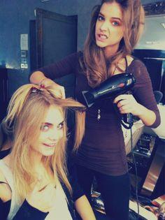 my fave models - Cara Delevingne and Barbara Palvin