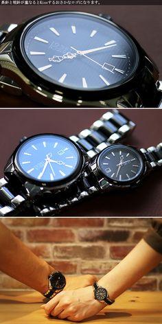 【楽天市場】【ペアウォッチ】クリオブルー Clio Blue クオーツ 長針と短針が重なると可愛い 魚ロゴ 腕時計 CB010-16-1B/CB010-26-1B ブラック ステンレス(ケース) ステンレス(ベルト) 保証1年間付き:MEGA STAR