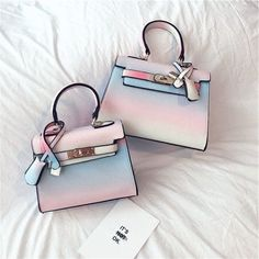 Sweet rainbow gradient bag sold by Fashion Kawaii [Japan & Korea]. Shop more products from Fashion Kawaii [Japan & Korea] on Storenvy, the home of independent small businesses all over the world. Popular Handbags, Cute Handbags, Cheap Handbags, Handbags Michael Kors, Purses And Handbags, Leather Handbags, Leather Totes, Wholesale Handbags, Handbags Online