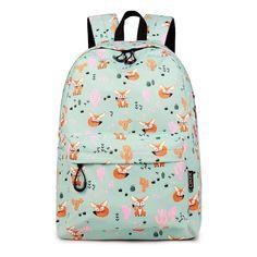 EL CHARRO Backpack Rucksack Girls Floral Travel Work School Bag Blue FLOWERS