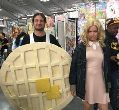 Eleven and her Eggo from Stranger Things