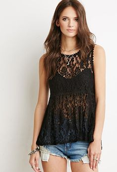 Floral Lace Babydoll Top | Forever 21 - 2000154343