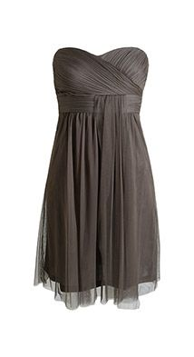 Esprit / delicate tulle dress with a pleated bodice